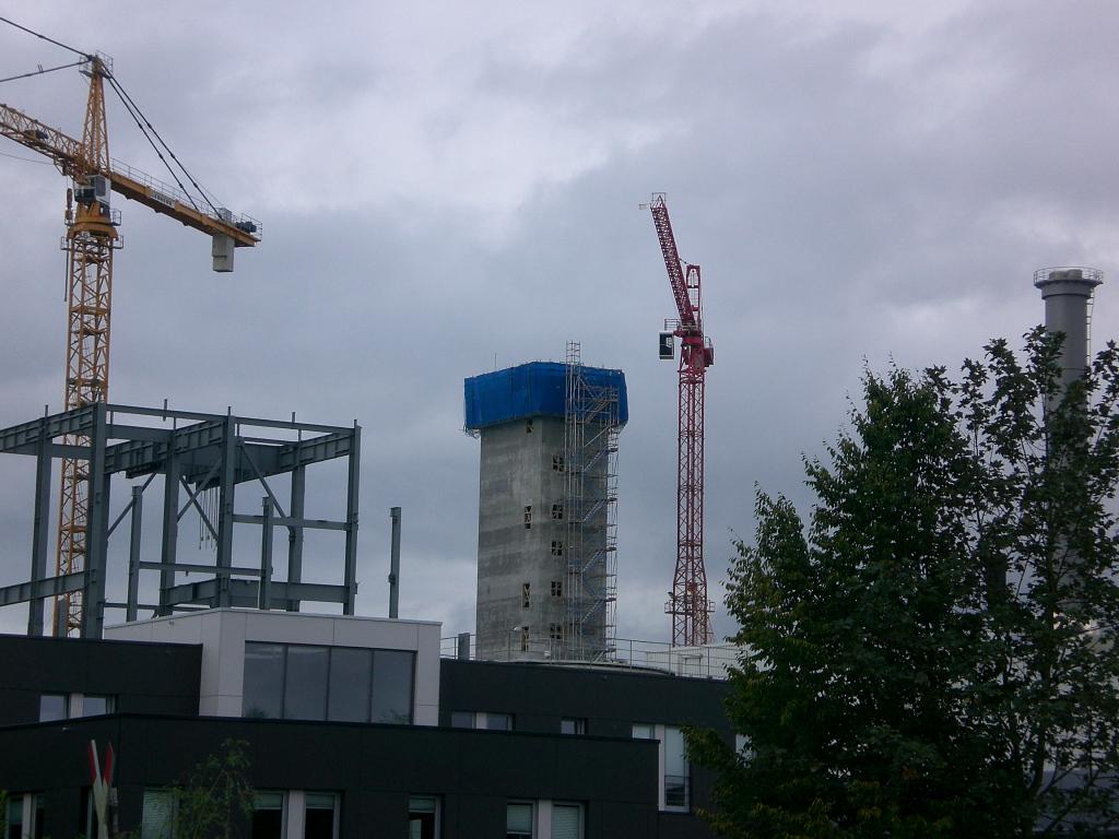 42 m hoher Treppenturm mit Gleitschalung realisiert