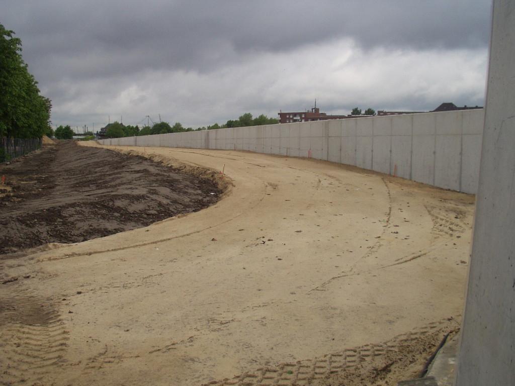 Insgesamt wurden 3.100 m³ Stahlbeton verbaut.
