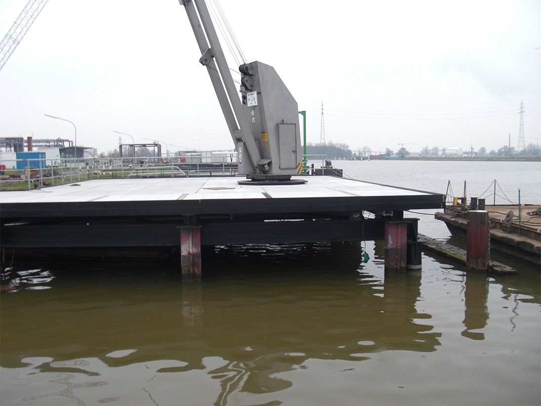 Fertige Verladebrücke